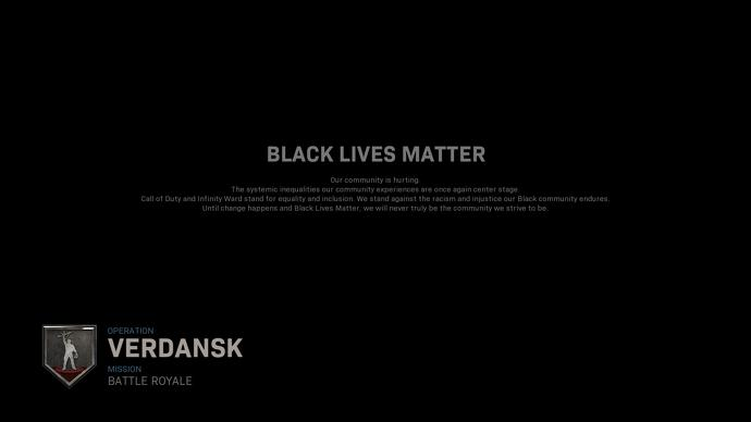 Call Of Duty: Warzone Displays Black Lives Matter Message In-Game