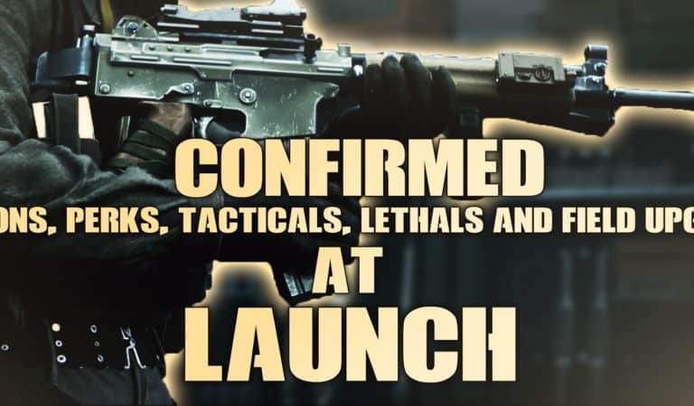All Weapons, Tacticals, Lethals & Perks in Black Ops Cold War at Launch